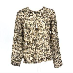 Hugo Boss silk abstract print blouse top 12